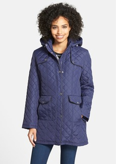 Larry Levine Quilted Jacket with Detachable Hood