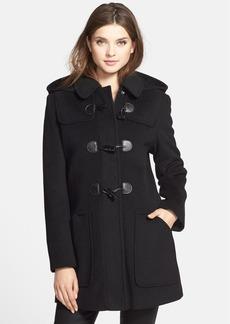 Larry Levine Removable Hood Wool Blend Duffle Coat