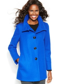 Larry Levine Stand-Collar Wool-Blend Peacoat