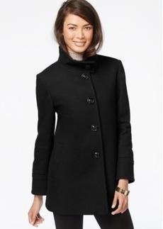 Larry Levine Stand-Collar Wool Coat