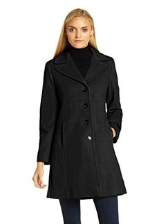 Larry Levine Womens Classic Collar Walker Coat