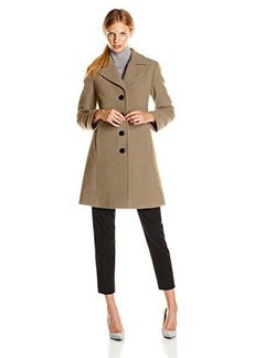 Larry Levine Women's Classic Single-Breasted Notch-Collar Coat