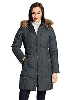 Larry Levine Women's Hooded Three-Quarter Length Down Coat
