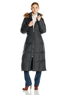 Larry Levine Women's Maxi-Length Down-Filled Coat