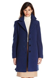 Larry Levine Women's River Blue Wool Walking Coat