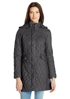 Larry Levine Women's Water Resistant Hooded Coat