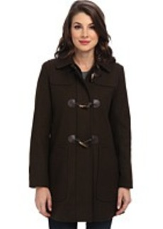 Larry Levine Wool Duffle Coat w/ Toggle Closures