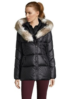 Laundry by Design black box quilted hooded 3/4 length jacket