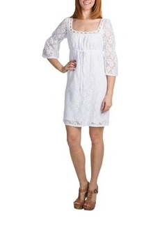 Laundry by Design Crochet Lace Dress - Passion Flower, 3/4 Sleeve (For Women)