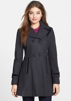 Laundry by Design Double Breasted Fit & Flare Coat