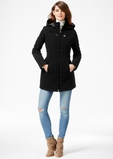 Laundry by Design Faux-Fur-Lined Quilted Velour Coat