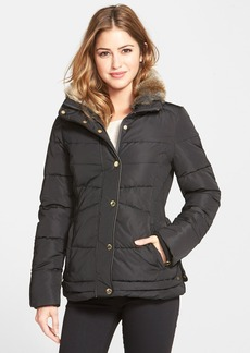 Laundry by Design Faux Fur Trim Puffer Jacket