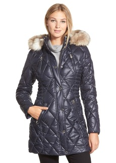 Laundry by Design Faux Fur Trim Quilted Parka