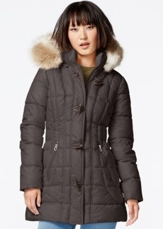 Laundry by Design Faux-Fur-Trim Toggle-Front Puffer Coat