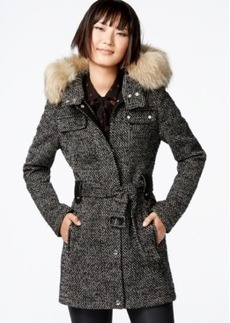 Laundry by Design Faux-Fur-Trim Utility Coat