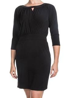 Laundry by Design Matte Jersey Keyhole Dress - 3/4 Sleeve (For Women)