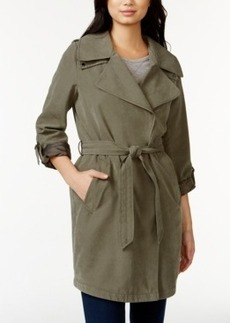 Laundry by Design Oversize Asymmetrical Trench Coat