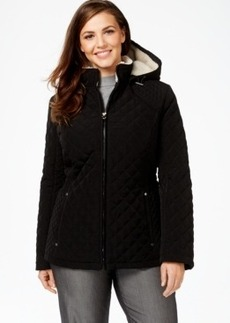 Laundry by Design Plus Size Faux-Fur-Lined Quilted Velour Anorak