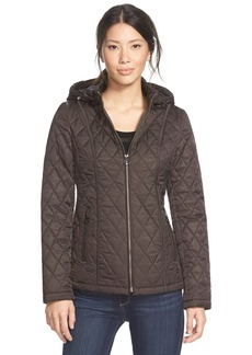 Laundry by Design Quilted Jacket with Detachable Hood