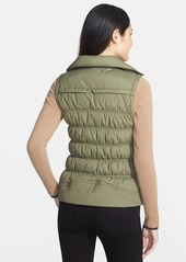 Laundry by Design Quilted Puffer Coat with Faux Fur Collar and Zip-Off Sleeves