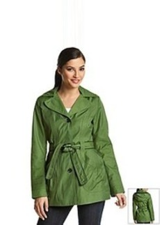 Laundry by Design Single-Breasted Belted Hooded Trench Coat
