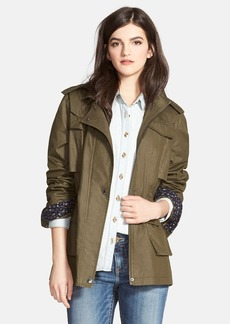 Laundry by Design Waxed Field Jacket with Detachable Hood