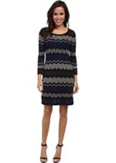 Laundry by Shelli Segal 3/4 Sleeve A-Line Sweater Dress