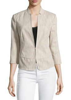 Laundry by Shelli Segal 3/4-Sleeve Linen-Blend Jacket