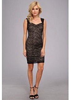 Laundry by Shelli Segal Animal Lace Sweetheart Neck Dress