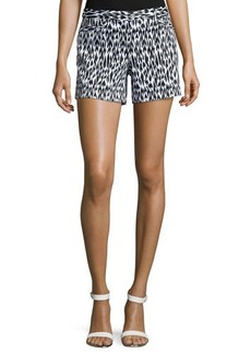 Laundry by Shelli Segal Animal-Print Oxford Shorts