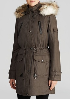 Laundry by Shelli Segal Anorak - Faux Fur Trim Hood