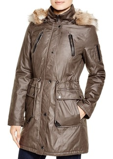 Laundry by Shelli Segal Anorak with Faux-Fur Trim
