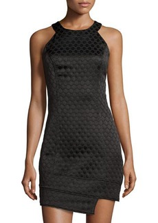 Laundry by Shelli Segal Asymmetric Sleeveless Sheath Dress