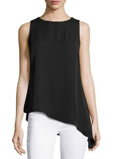 Laundry by Shelli Segal Asymmetric Sleeveless Tunic, Optic White