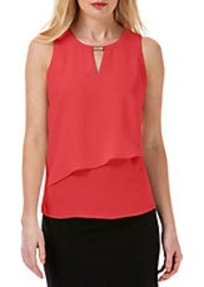 LAUNDRY BY SHELLI SEGAL Asymmetrical Overlay Top