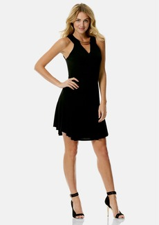 Laundry by Shelli Segal Bar Detail Jersey Fit & Flare Dress