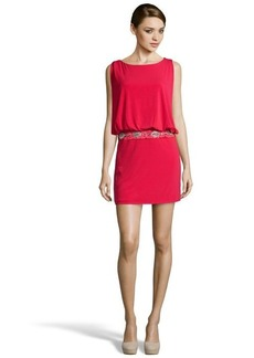Laundry by Shelli Segal baton rouge jersey draped embellished drop waist dress