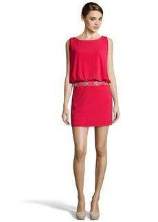 Laundry by Shelli Segal baton rouge jersey draped embellished drop waist dress
