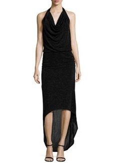 Laundry by Shelli Segal Beaded Halter-Neck Gown, Black