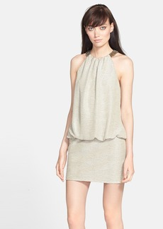 Laundry by Shelli Segal Beaded Neck Blouson Dress