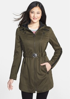 Laundry by Shelli Segal Belted Hooded Soft Shell Jacket (Regular & Petite)