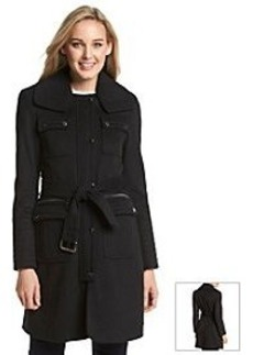 Laundry by Shelli Segal Belted Military Walker Coat