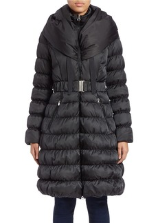 LAUNDRY BY SHELLI SEGAL Belted Puffer Coat