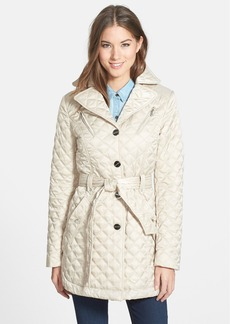 Laundry by Shelli Segal Belted Quilted Coat