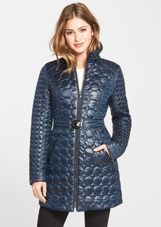 Laundry by Shelli Segal Belted Quilted Coat (Regular & Petite)