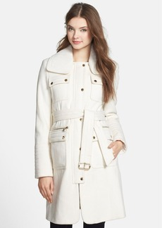 Laundry by Shelli Segal Belted Wool Blend Trench Coat