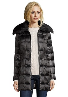Laundry by Shelli Segal black box quilted faux fur shawl collar ...