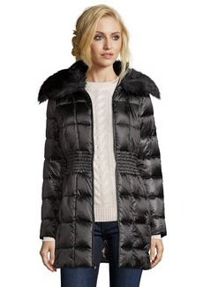 Laundry by Shelli Segal black box quilted faux fur shawl collar jacket