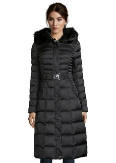 Laundry by Shelli Segal black box quilted full length faux fur hooded down jacket