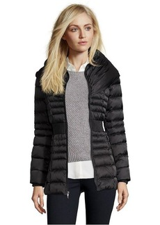 Laundry by Shelli Segal black quilted pillow collar down jacket